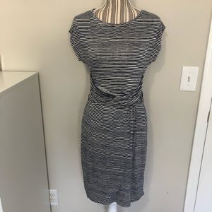 *NWT* Loft Cap Sleeve Blue/White Stripe Dress